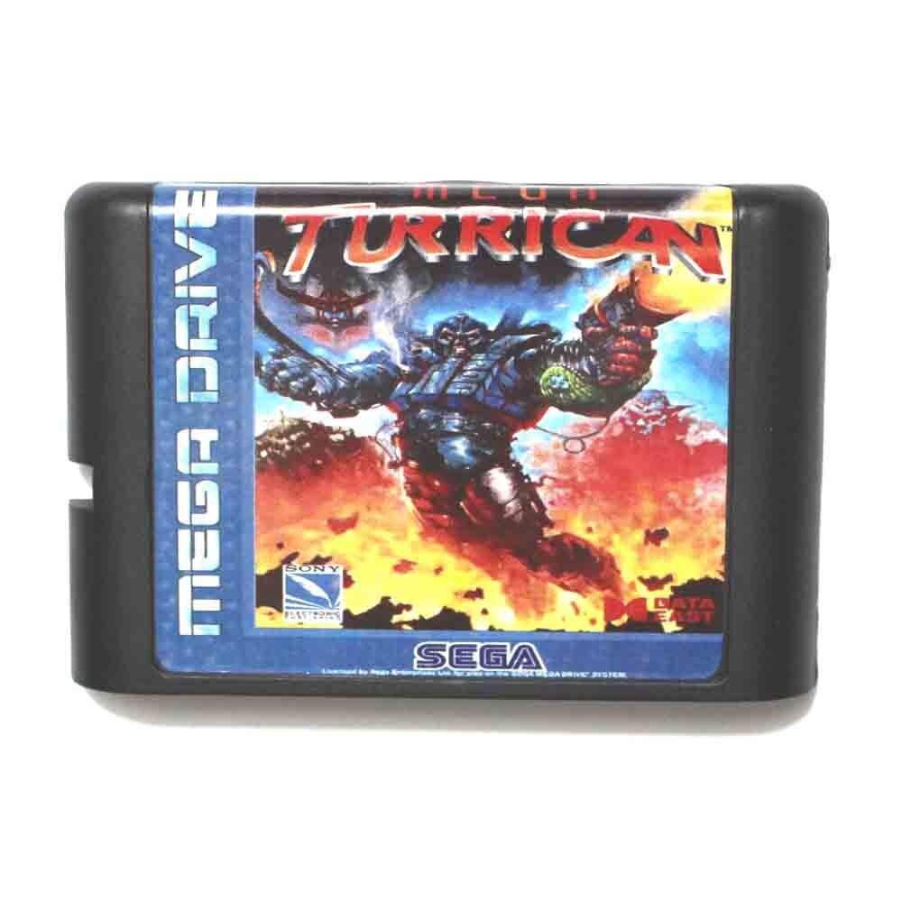 Mega Turrican NTSC-USA 16 bit tarjeta de juego MD para Sega Mega...