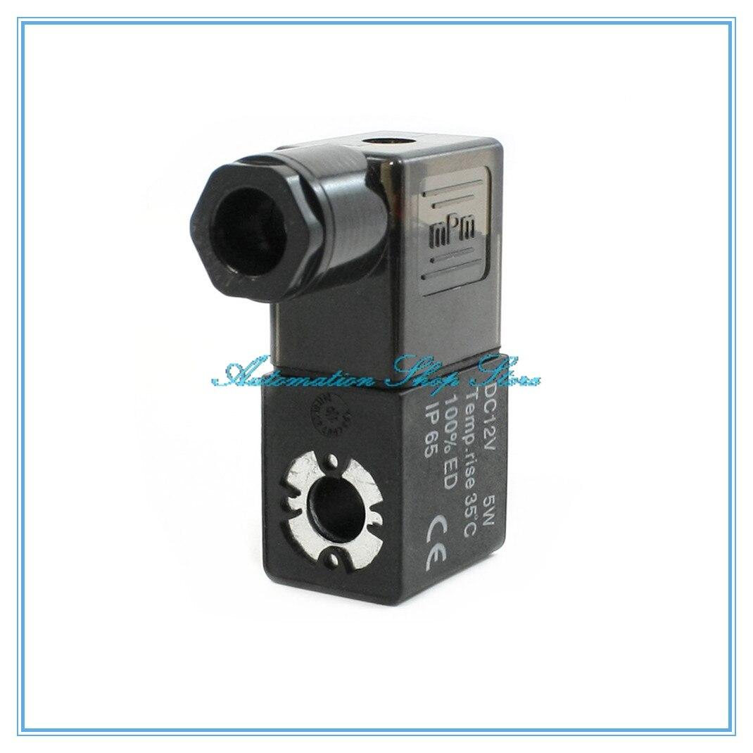 Válvula Solenoide de aire neumática, bobina negra DC12V DC24V AC36V AC110V AC220V AC380V
