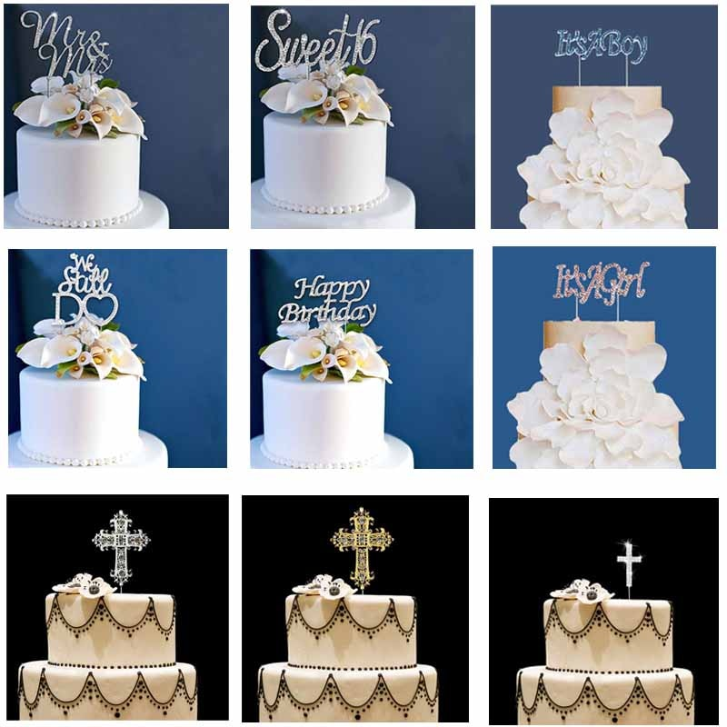 Cupcake torta Topper para cumpleaños Boda nupcial baby shower niño niña bautizo Primera Comunión aniversario Decoración