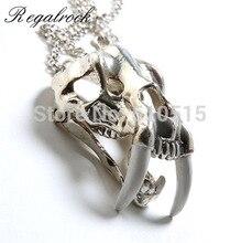 Regalrock  La Brea Tar Pits Cranium Skull Smilodon Pendant Necklace
