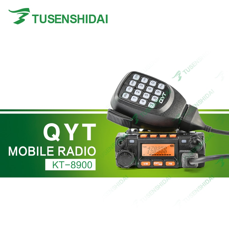 Marke Neue QYT KT-8900 Dual Band U/V 25 watt 200CH Scrambler CTCSS/DCS FM DTMF Scan Mobile taxi Amateur Auto Radio Transceiver