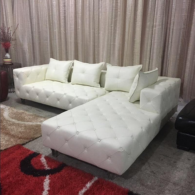 Moderne freizeit sofa schnalle bonded leder sofa klassische kreative sofa l förmigen sofa # CE-5060