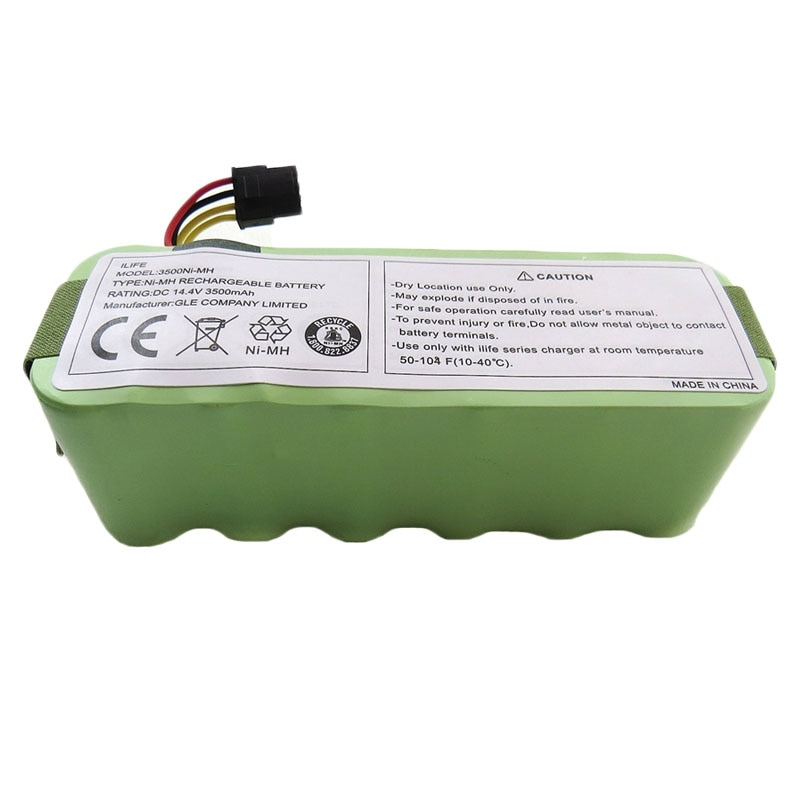 Para Ecovacs X500 NI-MH 3500mAH 14,4 V batería para Kitfort KT504 Haier T322 T321 T320 T325 piezas de aspiradora robótica accesorio