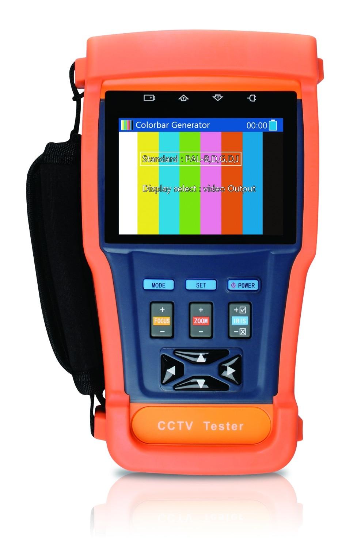 CCTV Tester mit Optischen leistungsmesser, Video screen shot, videoaufzeichnung, Internen speicher (8G), ptz-steuerung, PTZ adresse auto recogns