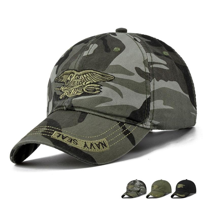 Navy Seal Taktische Baseball Caps Kommando Caps Gorras Herren Special Forces Soldat Hüte Airsoft Sniper Camouflage Camo Visier Hüte