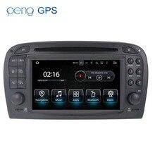 Android 8.0-autoradio stéréo Headunit GPS Navi   Pour Mercedes Benz SL R230 SL500 7.1-2001, sans voiture, lecteur de DVD multimédia