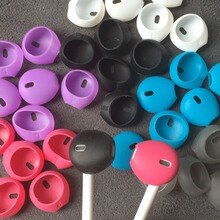 100 stks/50 pairs Airpods Siliconen Oortelefoon case Oorkussen voor iphone 5 5s 6 6plus 6s 6 splus 7 7 plus In-Ear Oordopjes oordopjes Earpods