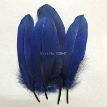Plumes doie bleu marine/bleu foncé   Coupe-chapeau, plumes pour chapellerie, fascinateurs et artisanat, 200 pièces/lot! De 15 à 20cm de long