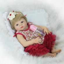 Nouveau 23 pouces/57cm filles sexe complet Silicone corps renaître bébé poupées bébé-renaissance enfants Bebe jouets Bonecas Juguetes Brinquedos