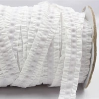 163020316 mm solid crochet flower fold over elastic tape 10yards of hair ring diy handmade clothing accessories free shipping
