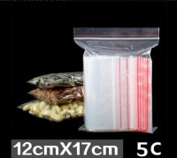 5C thick 4*6cm small plastic Jewelry bags mini Zipper Zipped Lock Bag cheap Reclosable Plastic Clear Poly Bags