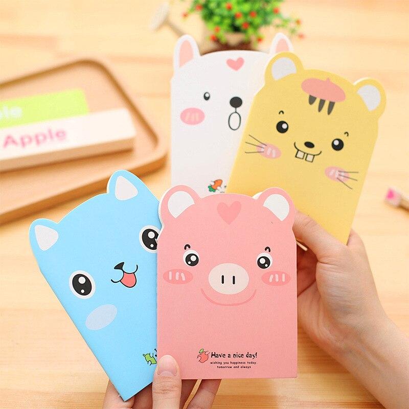 Cute Creative Cat Pig Notebook Kawai forrado papel escritura Bloc de notas libros para niños papelería de regalo coreana Oficina escuela suministros