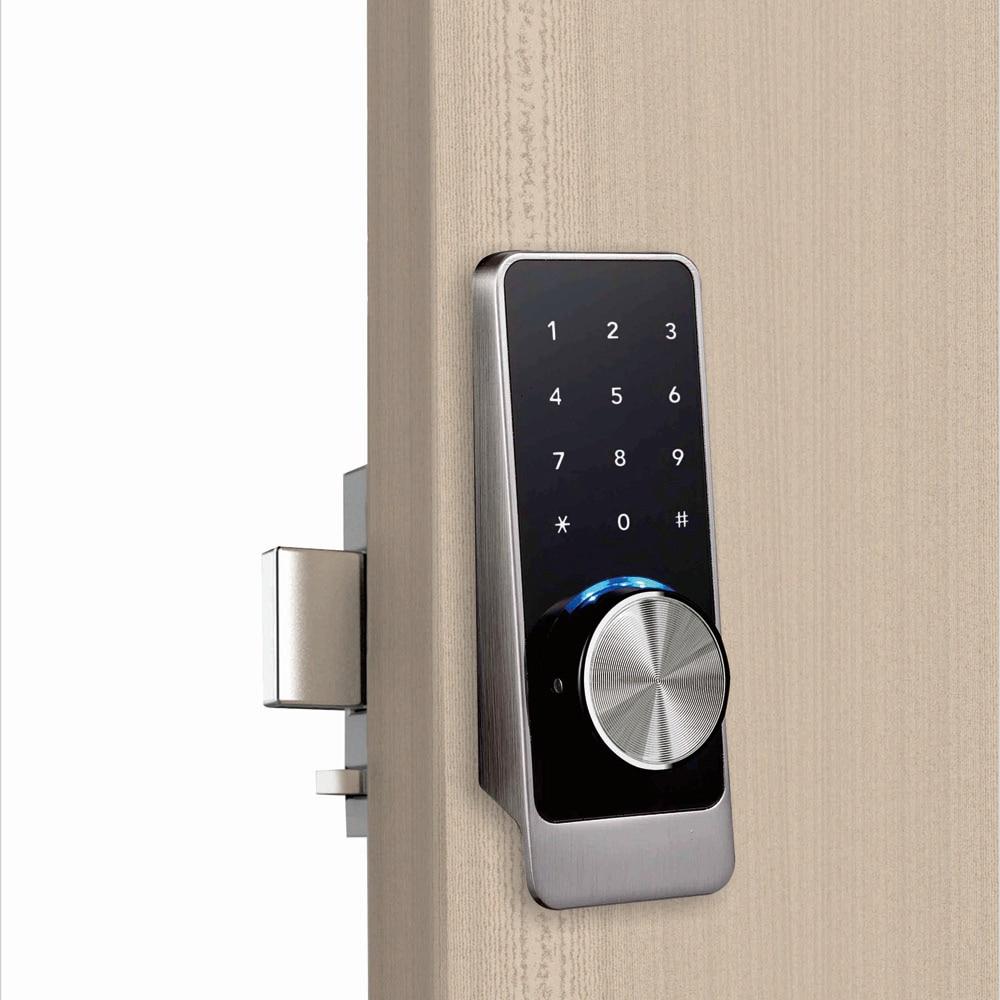 Waterproof Smart door rim locks, Bluetooth App RFID Keypad Electronic Door Lock, WiFi Security safe Digital lock for Home