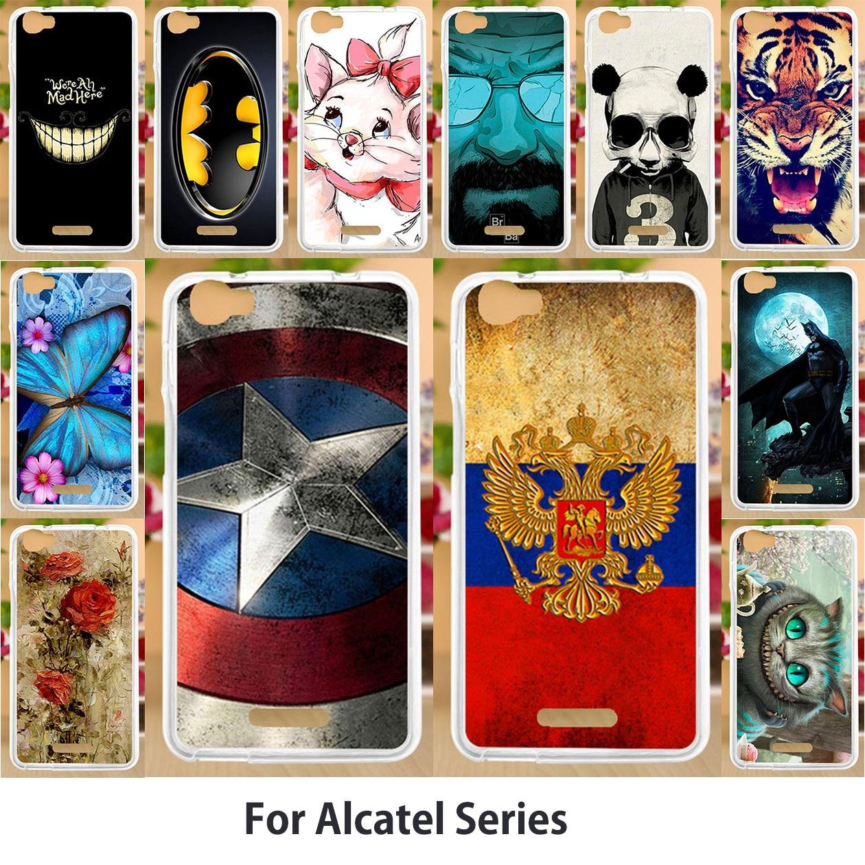 Anunob Case For Alcatel U5 3G 4047 4047D 4047Y Cover 3C U5 U3 A3 A5 A7 XL Shine Lite 1C 1X 3X  A2 A3 XL C5 C7 4G GO Play 5047