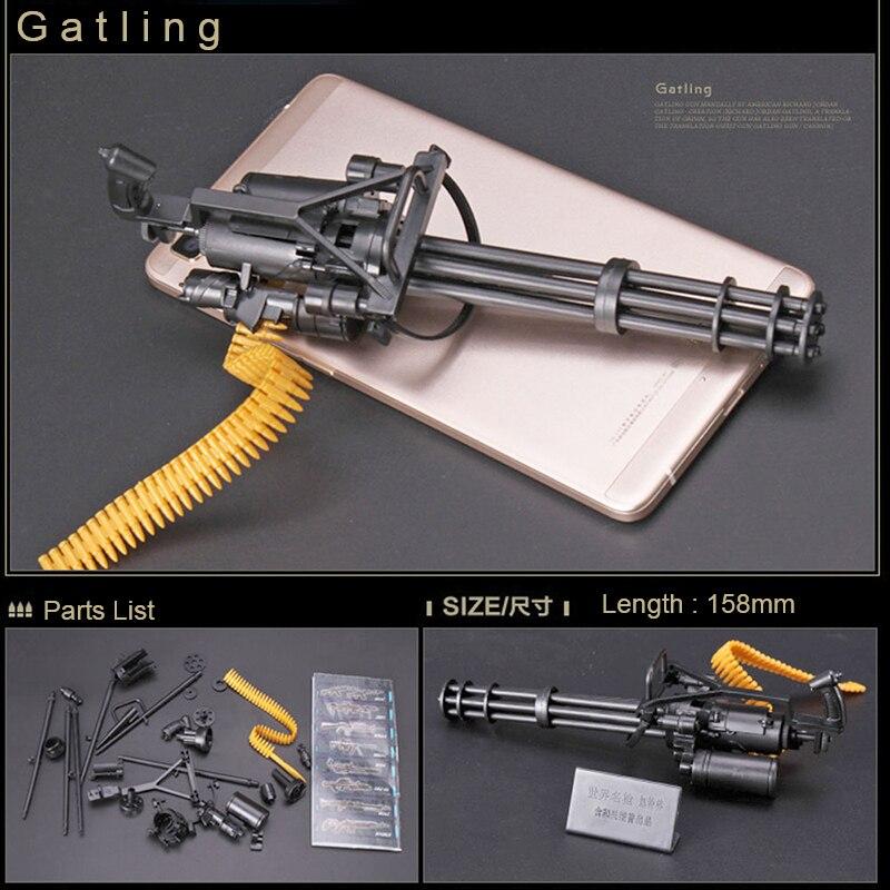 1: 6 1/6 skala 12 zoll Action-figuren M134 Gatling Minigun Terminator T800 Schwere Maschine Guns + Kugel Gürtel Geschenk Für kinder