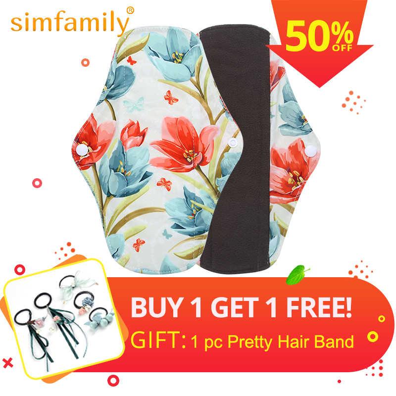 Simfamily 6pc Bamboo Charcoal Sanitary Pads Regular Flow Pads Reusable Health Higiene Feminina Menstrual Cloth Maternity Pads Maternity Pads Aliexpress