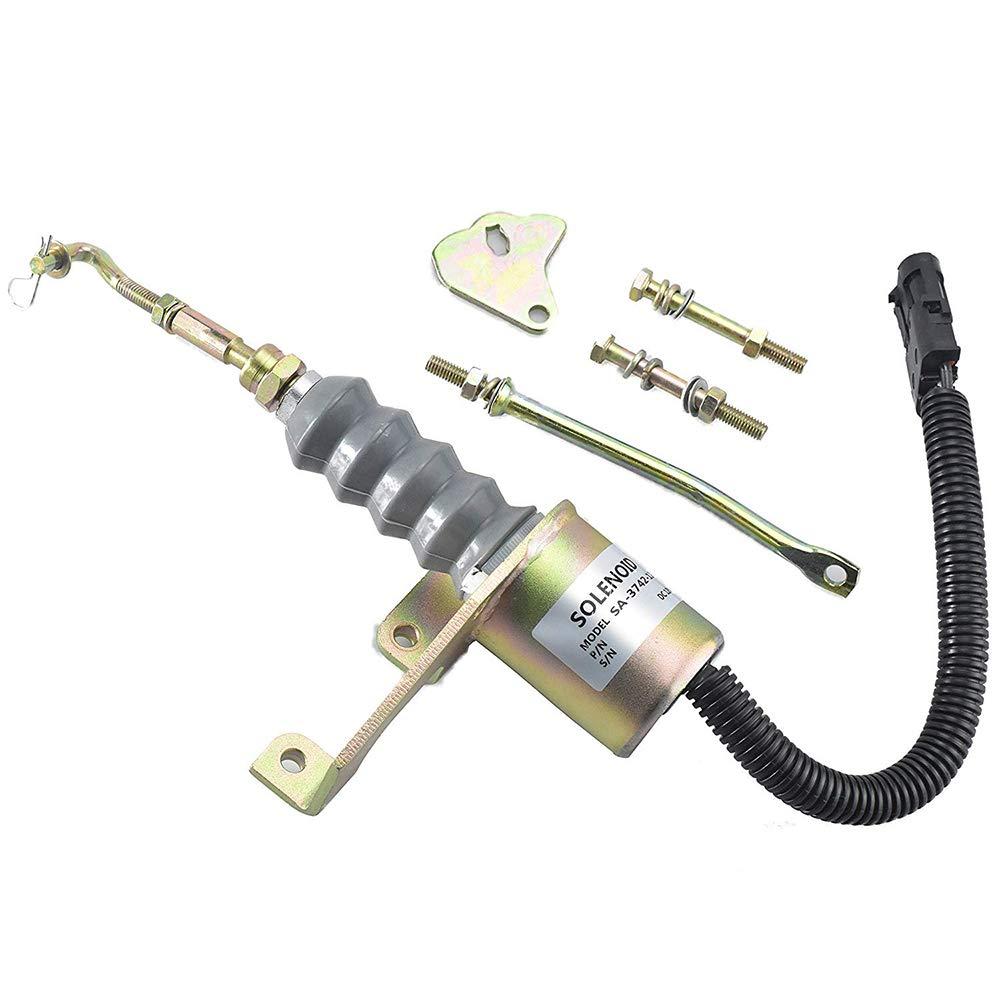Diesel Engine Stop Solenoid 1751ES SA-3742-12 12V Shutdown Solenoid 1751ES SA-3742-12 for RSV Governor & Perkins