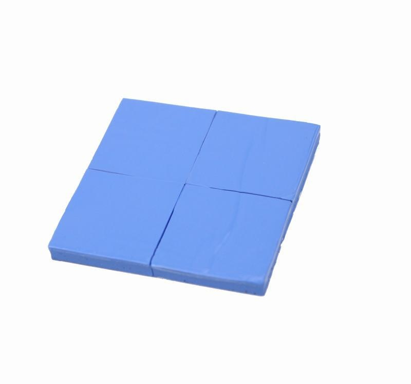 240 Pieces 25x25x2mm Blue Conductive Silicone Pad Thermal for CPU GPU VGA Heatsink Silicone 10 pcs to 220 silicone thermal heatsink insulator pads w insulating particles for lm78xx lm317 tdaxx