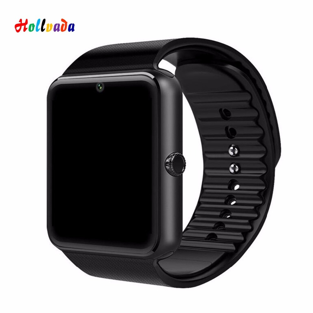 Reloj inteligente GT08 con Bluetooth para hombres con pantalla táctil Smartwatch Batería grande compatible con tarjeta Sim TF cámara para IOS iPhone teléfono Android