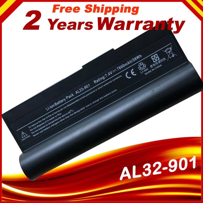 HSW 7800 мАч 6 ячеистая для ноутбука Батарея для Asus AL23-901 AP23-901 Eee PC 901 1000 1000H 1000HE 1000HA 1000HG 904HD 1000HD 7,4 V