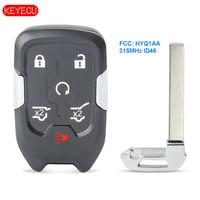 Keyecu Replacement Smart Remote Key Fob 6 Button 315MHz ID46 for GMC YUKON Terrain 2015-2020 FCC: HYQ1AA