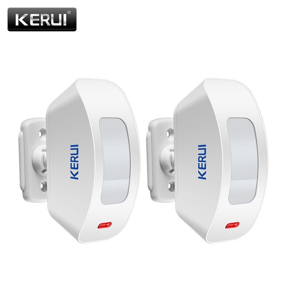 KERUI P817 cortina inalámbrica PIR Sensor 433MHZ puerta ventana Detector infrarrojo para sistema de alarma antirrobo hogar