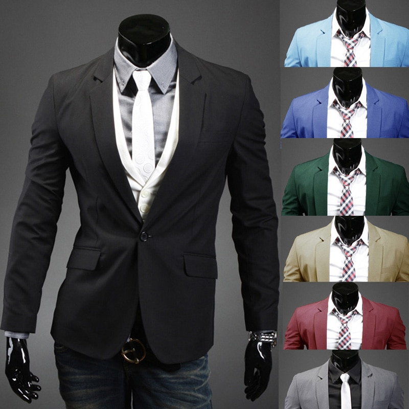 Nueva llegada ropa de marca Dropshipping. exclusivo. traje chaqueta de los hombres de moda delgado hombre alta calidad trajes Casual Color sólido masculino chaqueta