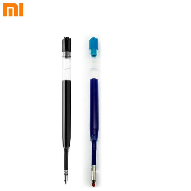Xiaomi Mijia-recarga de tintas negras y azules de 0,5mm, de Metal Xiaomi para bolígrafos, repuesto para pluma Mijia de oro y plata, material de oficina