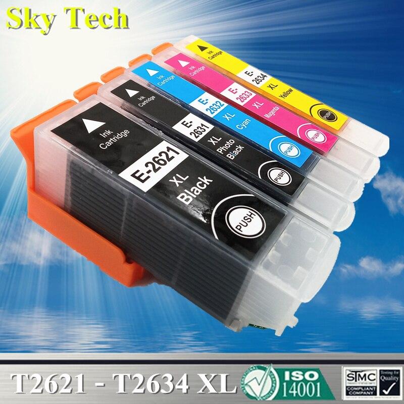 26XL cartuchos compatibles para T2621 T2631-T2634 para Epson XP-510 XP-520 XP-600 XP-610 XP-620 XP-700 XP-710 XP-800 XP-810