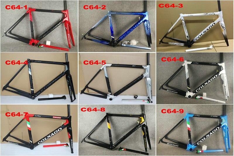 20 colores 2020 Colnago C64 marco Marco de carbono cuadro de bicicleta de carretera bicicleta de carbono negro dorado frameset