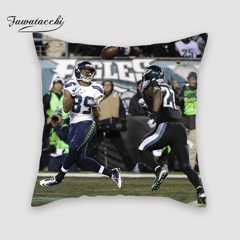 Funda de almohada Fuwatacchi NFL con Touchdown, funda de almohada de felpa suave y bonita, funda decorativa para sofá, saco, almohada, funda de almohada