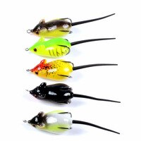 Fishing Lures Thunder Frog Mouse Soft Bait Lifelike Floating Artificial wobbler Hook Fish Tackle Pesca 5.1cm 8.2g