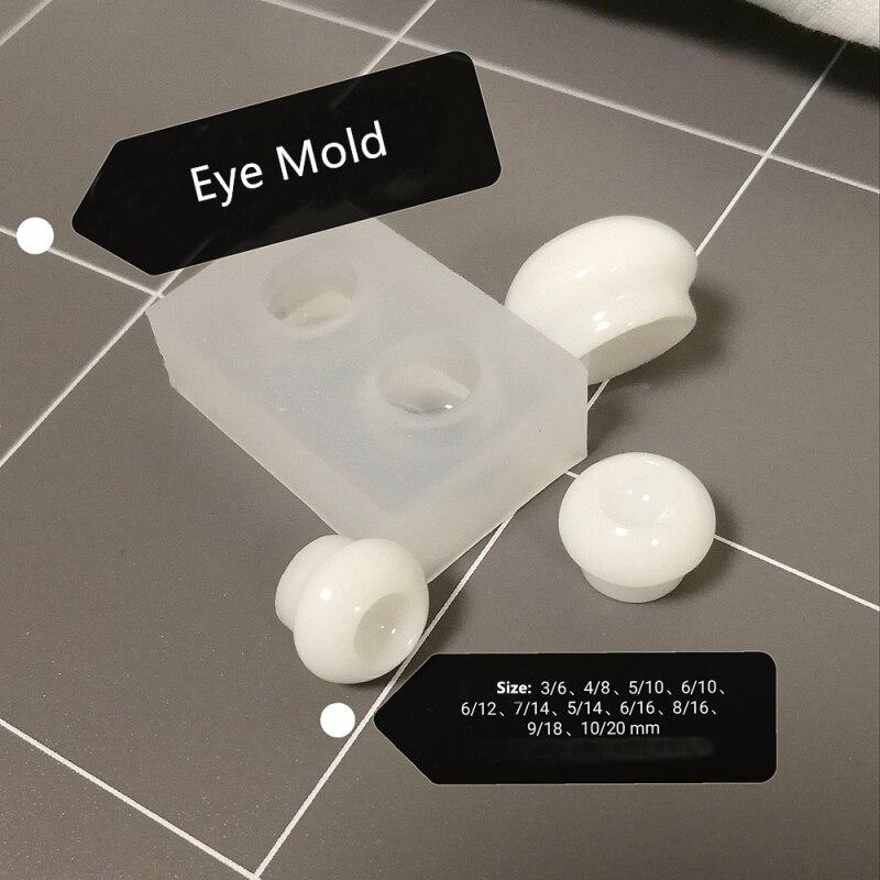 1 Pcs Paddestoel Handvat 1/3 1/4 1/6 Sd Bjd Eye Mold Intra-oculaire Druk Eye Fundus Siliconen Mal Bjd Oog Pop base Diy Materiaal