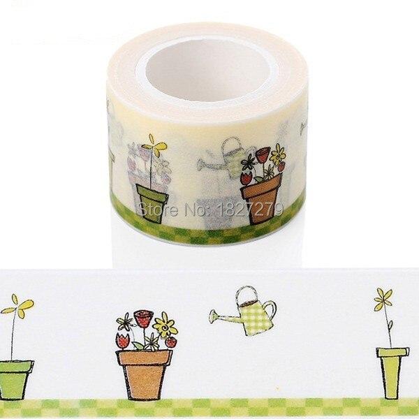 1х Лучшая Продажа 3 см * 10 м декоративная клейкая бумажная лента и цветочный дизайн японская васи лента оптовая продажа