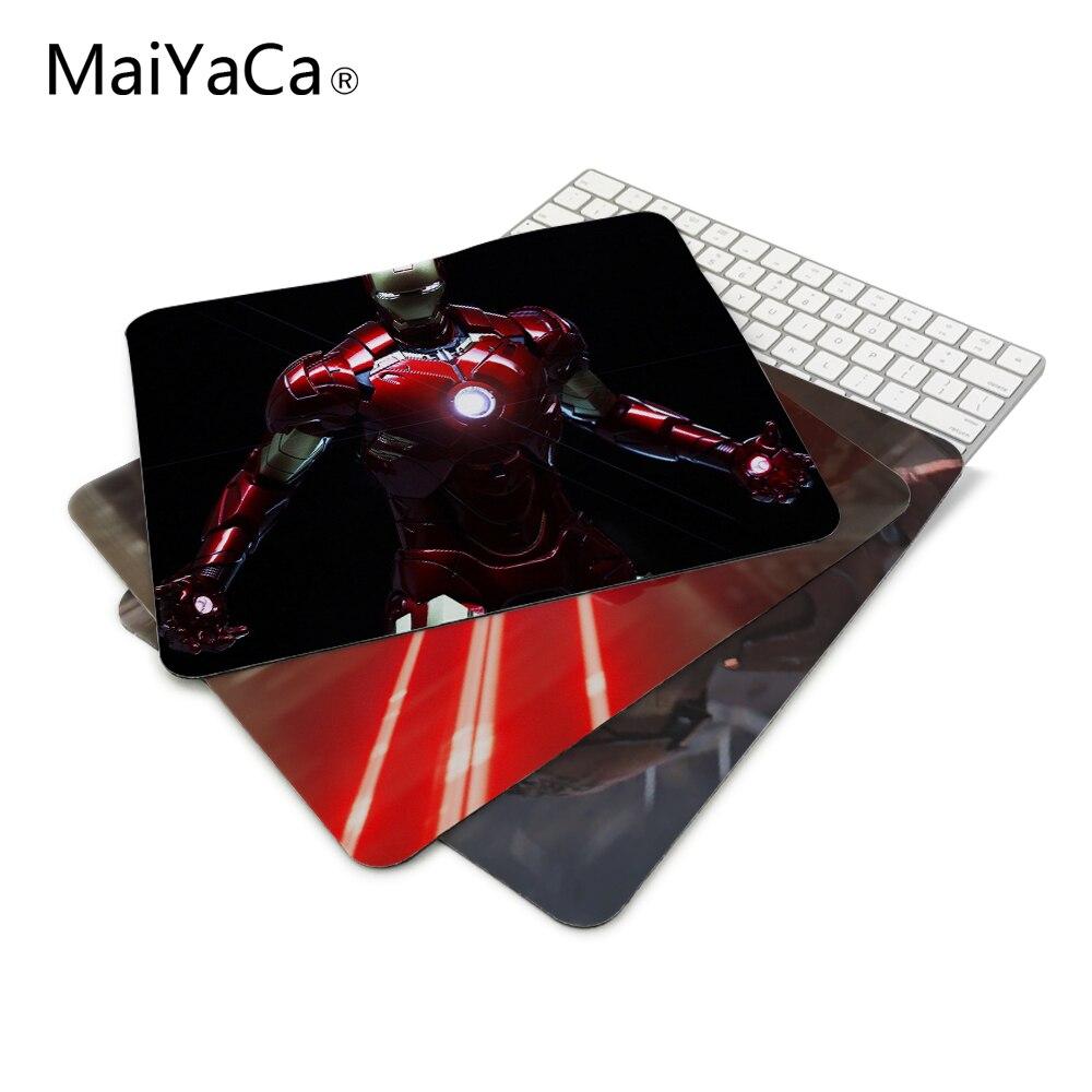 MaiYaCa Funny item Avengers Iron Man Marvel Comics armored suit comics wallpaper Mouse Mats Anti-Slip Rectangle Mouse Pad