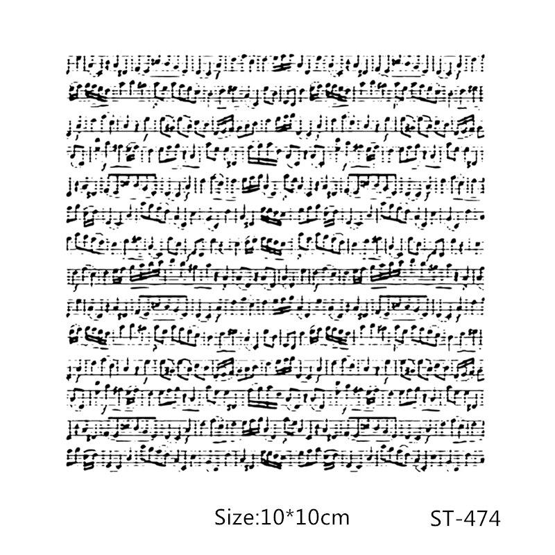 Sellos transparentes AZSG Stave Music Score/sellos para álbum de recortes DIY/fabricación de tarjetas/sello artesanal de silicona decorativo para álbum