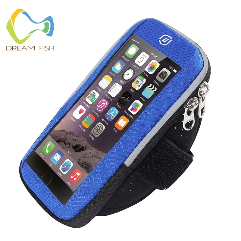 Dream Fish 6 дюймов, 2019, спортивная сумка на руку, чехол для iPhone MAX Plus, тканевый, для тренажерного зала, для бега, с сенсорным ремешком, для Xiaomi, слинг...