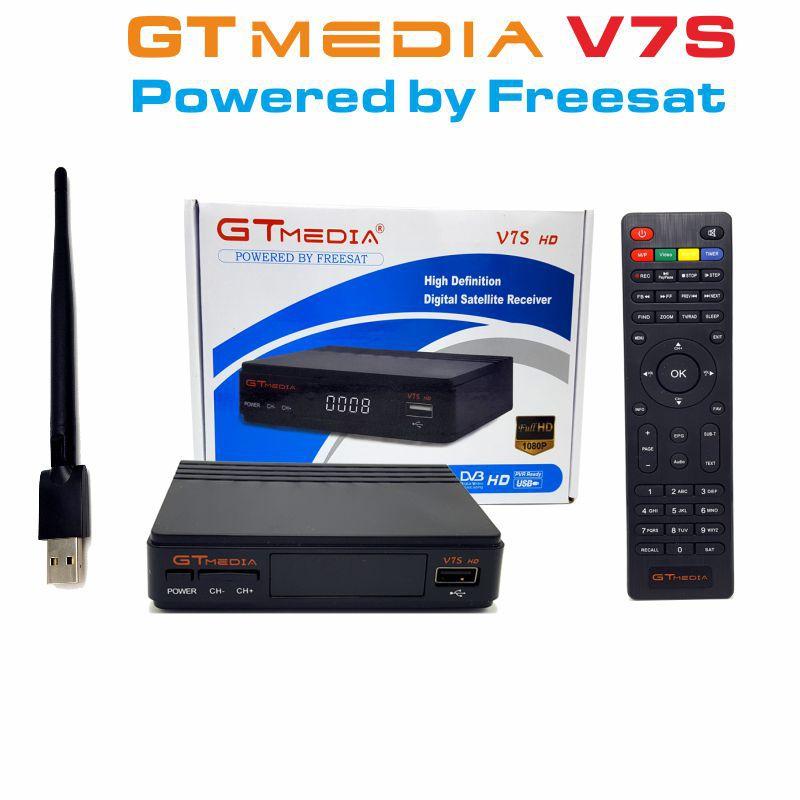 Freesat V7S HD with USB Wifi DVB-S2 HD Satellite TV Receiver Support PowerVu Biss Key Cccamd Newcamd Neweset GTmedia