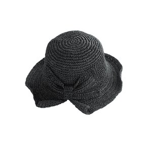 Bow Straw Weave Fisherman's hat Wide Brim Dome top UV Protection Sun Hats Beach Travel Foldable Gilrs Caps Female Summer Cap