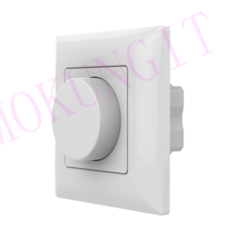 Rotary Panel AC Triac de RF Dimmer KS LED montaje en pared Manual mando grupo Dimmer Triac, 110 V-240 V atenuación 2,4G RF Dimmer
