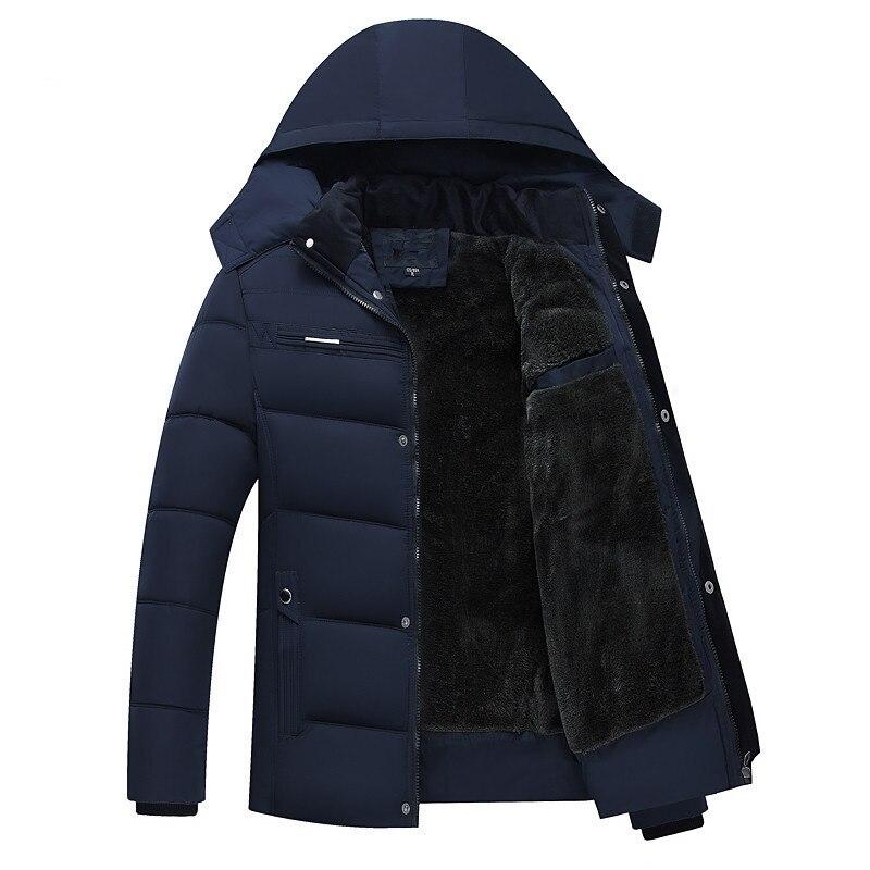 Nueva chaqueta de plumón gruesa de invierno para hombre 2018, abrigos con capucha, Parka gruesa informal para hombre, abrigos acolchados de algodón XL-4XL