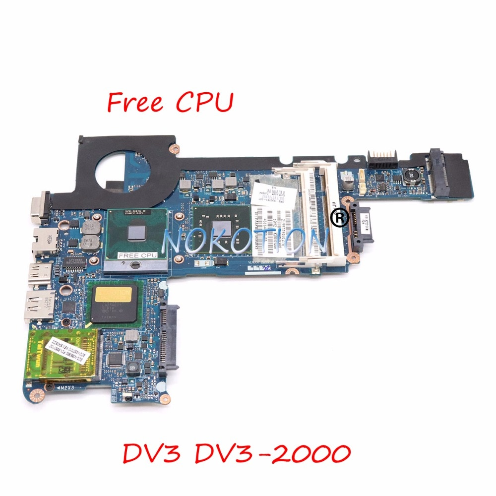 NOKOTION KJW10 LA-4732P 530781-001 اللوحة لابتوب Hp جناح DV3 DV3-2000 الرئيسي مجلس GM45 DDR2 شحن cpu كاملة اختبار
