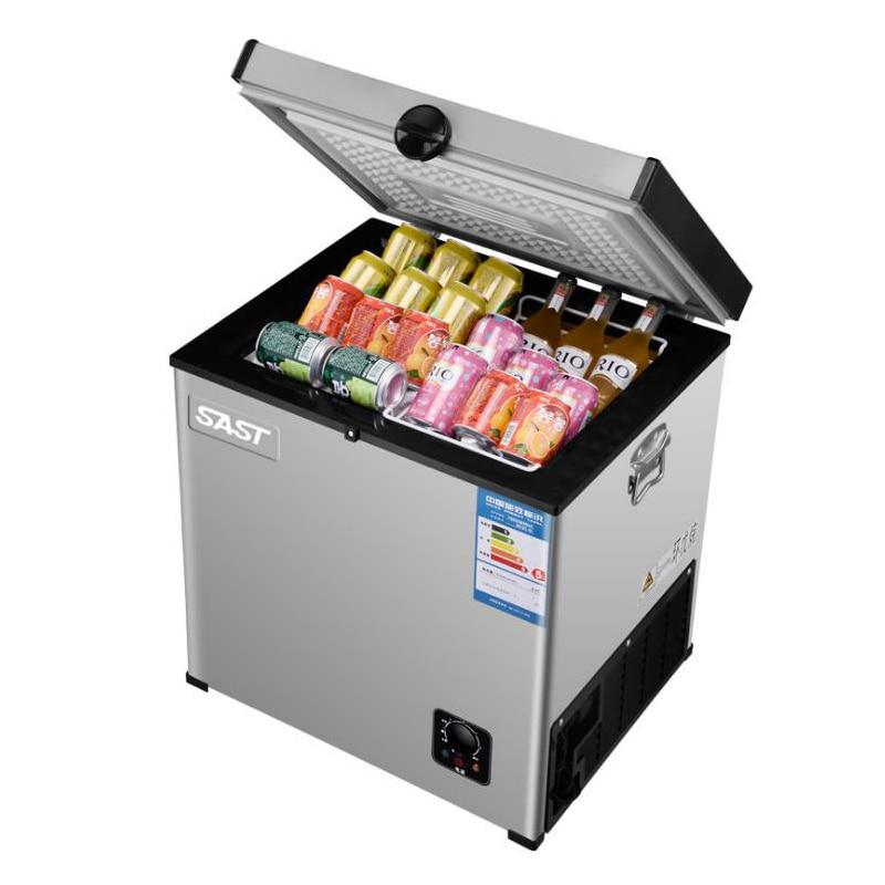 Refrigerador doméstico de 55l para geladeira de casa, refrigerador de bebidas com porta única horizontal para refrigeração
