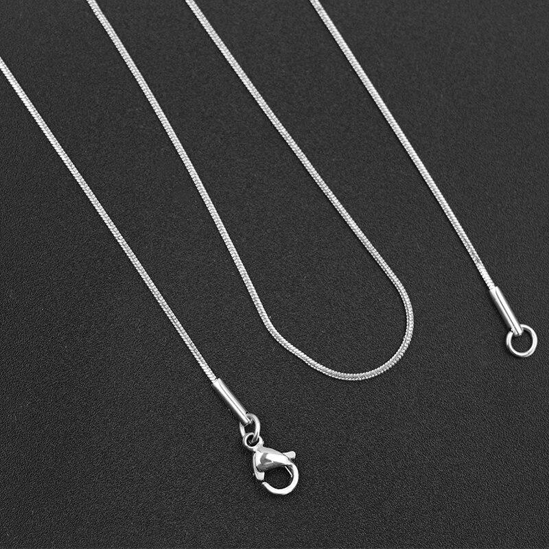 2 stücke DIY Reine Edelstahl Halskette 0,9 MM Schmuck Kette Großhandel Fertig Produkte