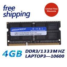 KEMBONA livraison gratuite SODIMM ordinateur portable DDR3 4 GB 1333 MHZ travail pour toutes les cartes mères de haute qualité