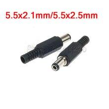 10 sztuk wtyczka DC mężczyzna gniazdo elektryczne wylot DC-022 DC-005 DC-022B DC Outlet 5.5X2.1MM 5.5*2.1 5.5x2.5mm 5.5x2.5 5.5*2.1mm
