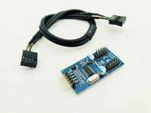 Carte mère USB 9Pin multiplicateur séparateur 1 à 2 câble dextension USB adaptateur carte HUB 9 broches connecteur Port multiplicateur pour bureau