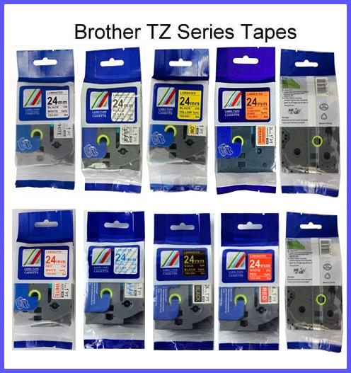 TZe-251... TZe-451... TZe-551... TZe151... TZe651... tz751 Compatible P touch tze cinta 12mm cinta para P touch cinta Hermano fabricante de etiquetas