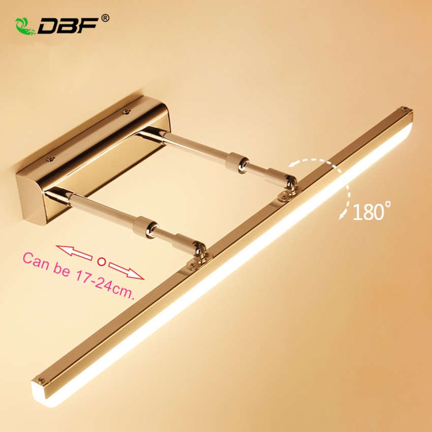DBF-مصباح حائط LED حديث قابل للدوران 180 درجة ، 9 واط 12 واط IP65 مقاوم للماء ، إضاءة مرآة الحمام