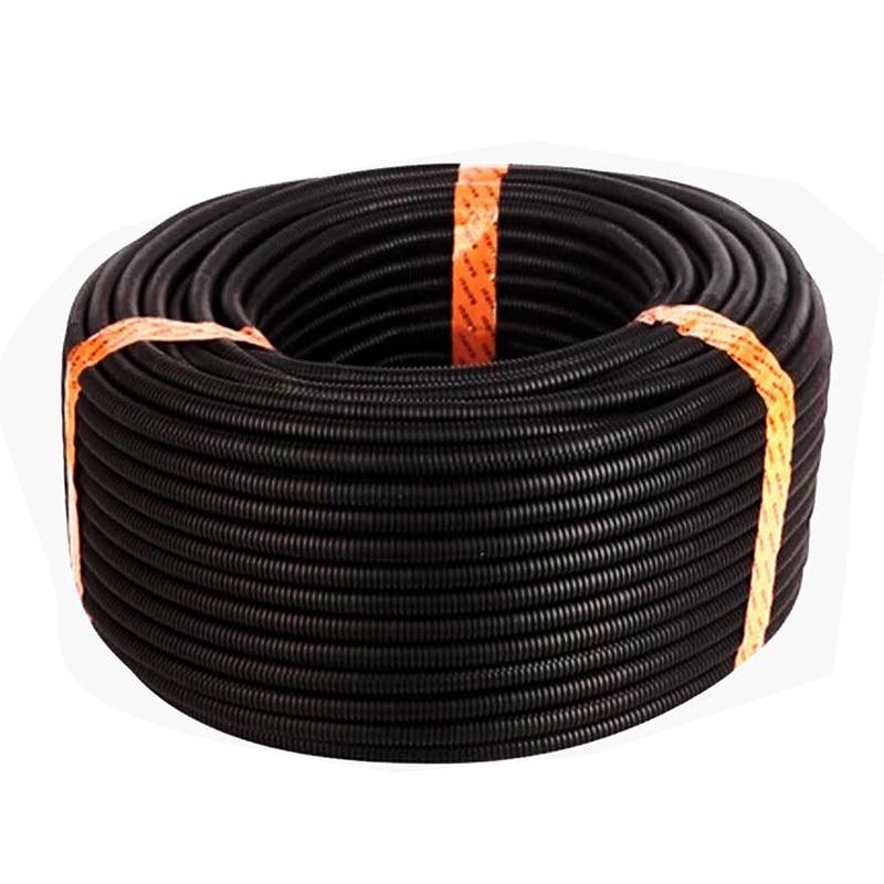 Tubo de manga de Color negro 50 pies, 3/8 pulgadas, Split Wire Loom, tubería de polietileno
